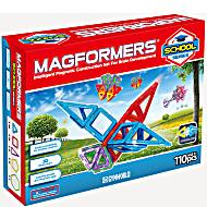 Магнитный конструктор Магформерс Школа 110 деталей артикул 630903 + короб для хранения