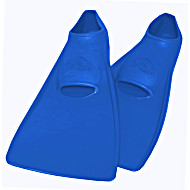 Ласты ProperCarry детские закрытая пятка для бассейна резиновые размер - 26 синие ПРОПЕРКЭРРИ